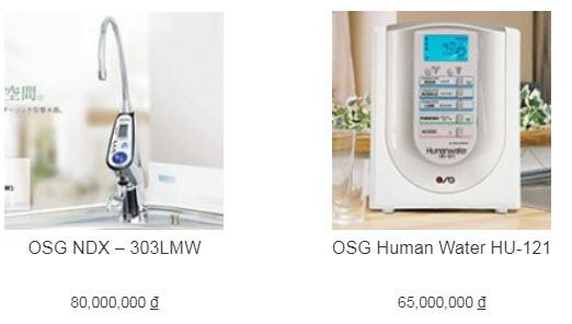 Đại lý máy lọc nước ion kiềm OSG OSG NDX – 303LMW ở Vinh, Nghệ An- Hà Tĩnh